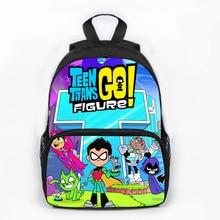 f52f4ccde282 13inch Teen Titans Go Backpack Boys Girls School Bags School Backpack  Bookbag Children Gift Customized