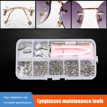 1 Box Glasses Repairing Kit Mini Screwdriver Nose Pads for W