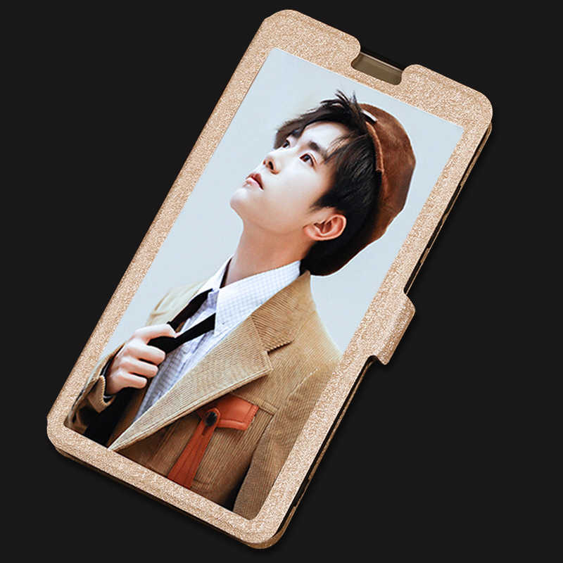 Flip Window View Cover For Doogee X5 Max X6 X7 X9 Pro X9 Mini F5 T6 Y6 Stand Transparent Phone Case For Y200 Y300 X10 X20 X30