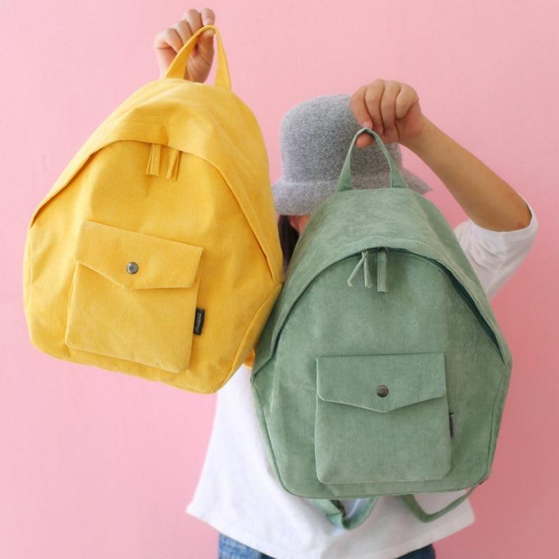 781786d049b1 Detail Feedback Questions about Retro Backpack For Women Girl Korean Simple  Colour Mochila Harajuku ulzzang Women Backpack School Bag Female Corduroy  ...