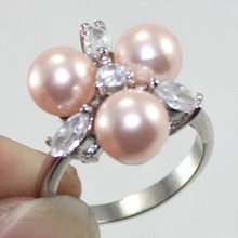 New Design !5 Clour Fast Shipping 8MM18KGP Pink /Black/Multi/ Blue/Gold South Sea Shell Pearl Ring A1012(China)