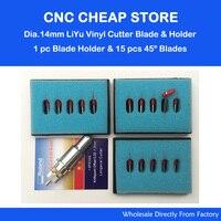 15Pcs Roland 45 Degree Cutting Plotter Blades 1pc 14mm Liyu Vinyl Cutter Plotter Blade Holder Not