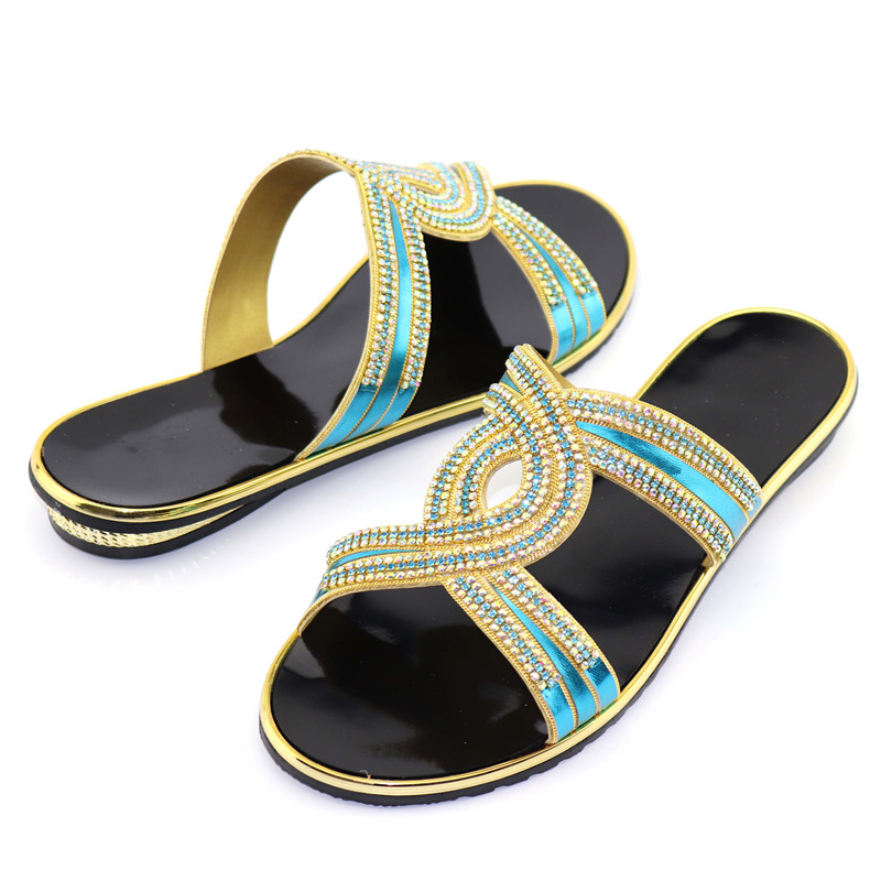 Altura Tacón Con Diamantes azul Cielo Azul Africana Dama 1 5 verde 0085 Del oro Ocio Cm Talón Moda rojo Para 2 De Inferior Real Imitación Zapatos Zapatilla TxvqUPPw