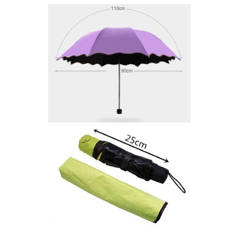 Волшебный УФ складной Солнечный/Защита от дождя и ветра цветущего Автомобиля Зонтик для женщин путешествия на открытом воздухе