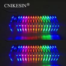 Света СИД кубик музыка спектр Уровень дисплей производство электроники DIY комплекты VU башня Diy КС16 Fantasy crystal звуковые колонки