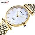 Marca longbo moda luxuary casais relógios amantes das mulheres dos homens do estilo do negócio encantos de quartzo analógico relógios de pulso à prova d' água 8973