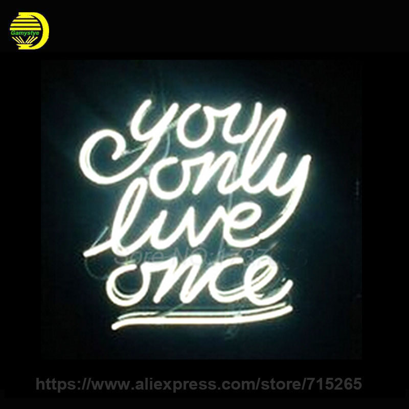 Neon Light Shop In Philippines: 2017 Hot Neon Sign You Only Love Once Neon Light Sign