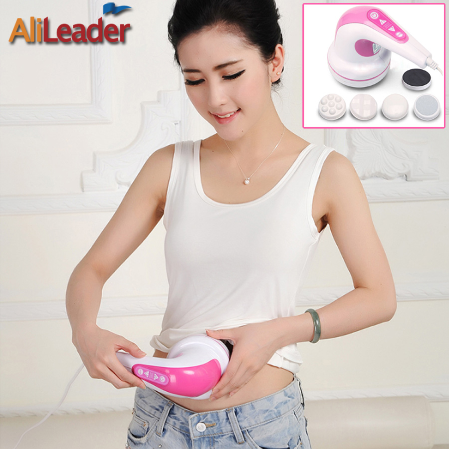 Alileader Electric Body Slimming Massager Anti-Cellulite Massager Professional Body Massager With 4 Massage Head For Lose Weight slimming body massager split type