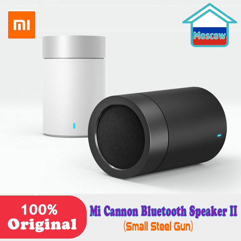 Original Xiaomi Mi <font><b>Bluetooth</b></font> 4.1 <font><b>Speaker</b></font> Cannon 2 steel Gun II Hands-free Calls Music Player with Mic <font><b>bookshelf</b></font> for phones PC image