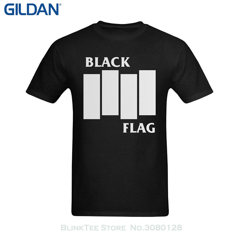 Good quality black t shirt - Gildan Summer Casual Man T Shirt Good Quality Youranli Men S Black Punk Flag White Logo Tshirt