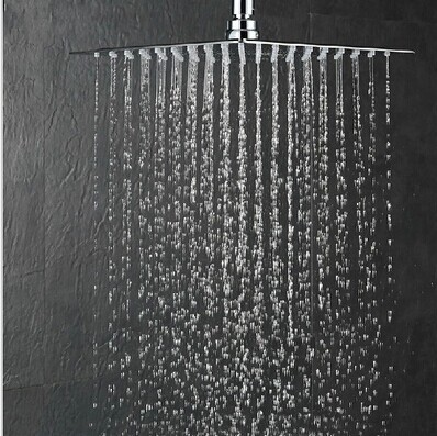 12 Inch Bathroom Shower Head 300 300mm Stainless Steel Super Thin Showers Water Saving Rain In Heads From Home