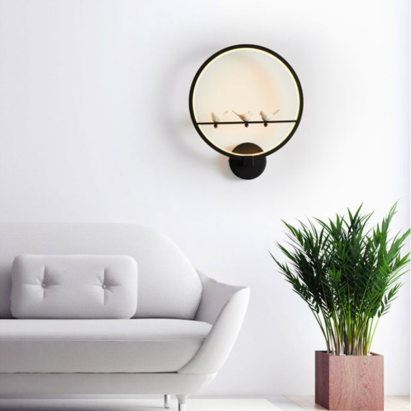 [DBF]Modern Art 3 Birds Wall Lamps LED Lamps Nordic Creative Living Room Bedroom Wall Lamp AC220V LED Lustre Light Wall Lighting modern wall light nordic style wall lamp simple gypsum bed lamp bedroom corridor wall lamps creative white art deco lighting