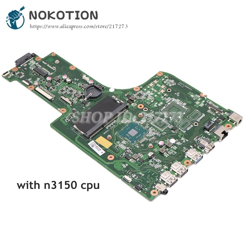 NOKOTION Laptop Motherboard FOR Acer Aspire ES1-731 Mainboard N3150 CPU NB.MZS11.005 NBMZS11005 DAZYLBMB6E0NOKOTION Laptop Motherboard FOR Acer Aspire ES1-731 Mainboard N3150 CPU NB.MZS11.005 NBMZS11005 DAZYLBMB6E0