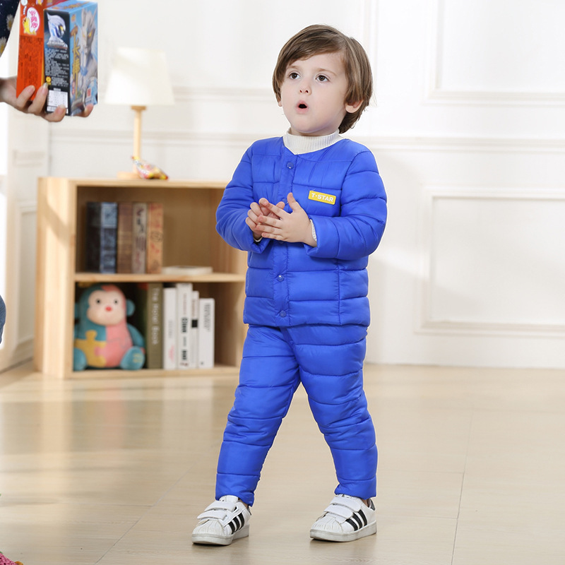 Autumn winter cotton-padded jacket Down jacket Children suit Thickening of the kid's coat  Boys and girls clothes warm