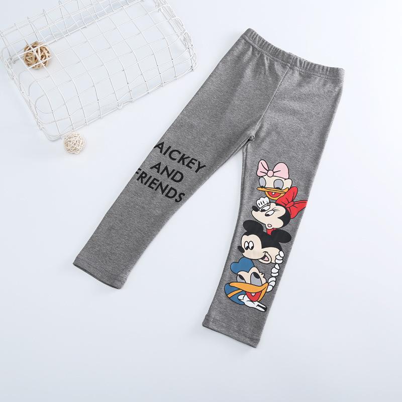 Fashion Cotton mickey Girls Pants Cartoon minnie Girl Leggings Baby Pants Kids Trousers Children Legging Girl Clothing 4 colors 2