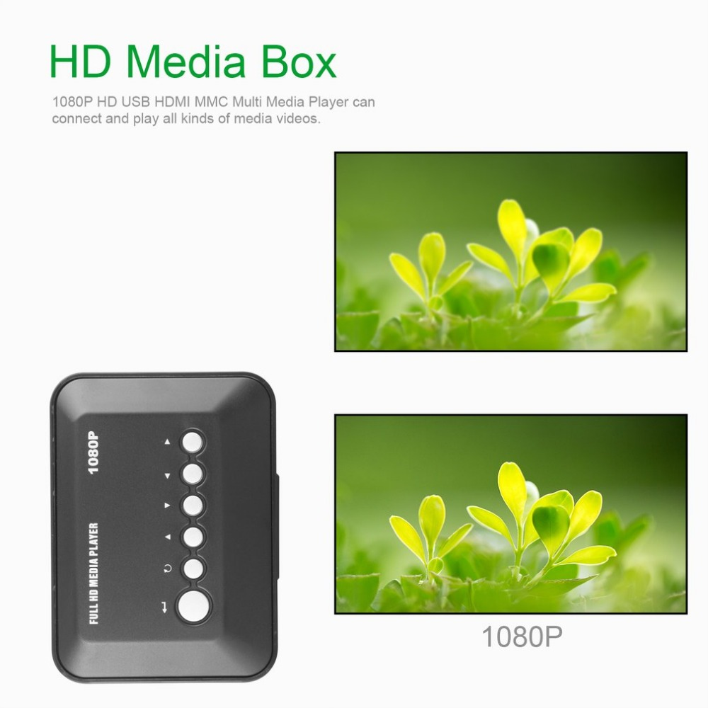 1080P Full HD SD/MMC TV Videos SD MMC RMVB MP3 Multi TV USB HDMI Media Player with Remote Control
