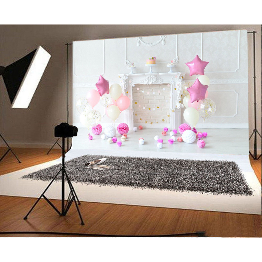 New Arrival 1pc 7x5ft Child Birthday Vinyl Photography Background Ballon Party Backdrops for Photo Studio Props 7x5ft vinyl photography background white brick wall for studio photo props photographic backdrops cloth 2 1mx1 5m