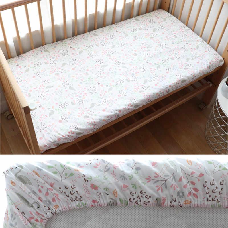 Bebé equipado hoja para los recién nacidos de algodón suave cuna hoja de cama para los niños Funda de colchón Protector de 130x70 cm permitir personalizado