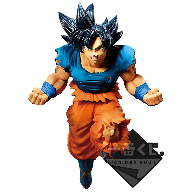 Tronzo Original Banpresto Goku De Dragon Ball Super Ultra Instinto PVC Action Figure Modelo Brinquedos Presentes No Exterior Limitado Recompensa Final