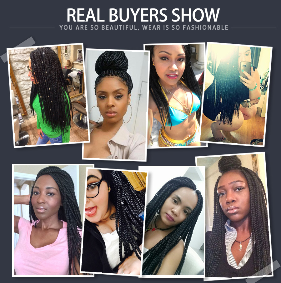 Buy Braids Originea 12 to 24inch Synthetic Box Crochet Braids Hair Extensions Synthetic crochet box Braiding Hair Extension Free Shipping