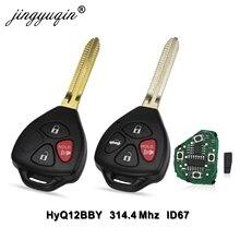 Jingyuqin HyQ12BBY 314,4 Mhz ID67 3/4 botones llave remota de coche para Toyota Camry Avalon Corolla Matrix RAV4 Yaris Venza tC/xA/xB/xC