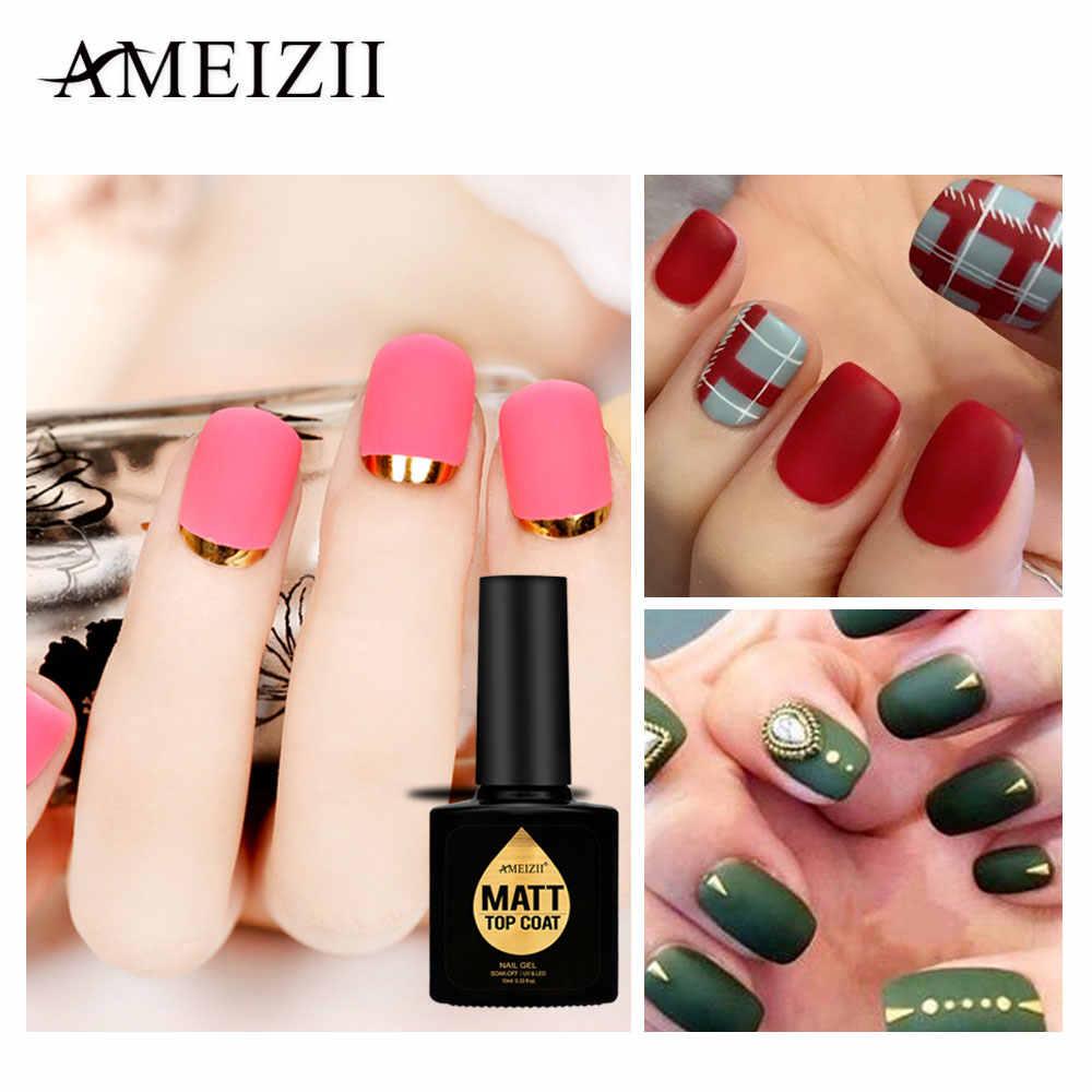 AMEIZII-Gel para manicura, esmalte de uñas mate, capa superior, Gel Uv para arte de uñas, fácil limpieza, laca de Gel, pegamento acrílico saludable