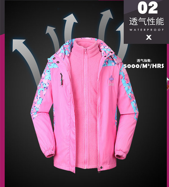 Children's wear cotton-padded clothes  Girl's winter jacket Big child's ski coats