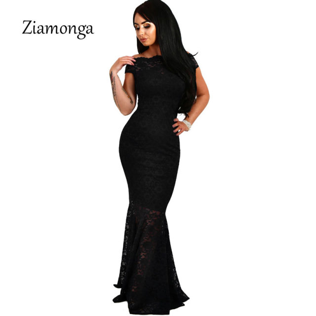 491542fd0c757 Ziamonga Floor-Length Floral Lace Maxi Dresses Long Gown 2017 New Fashion  Sexy Formal Mermaid Dresses Vestidos De Festa Longo