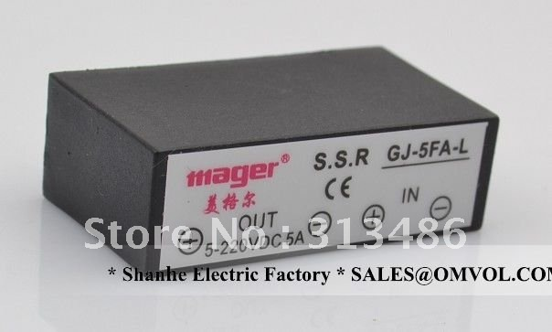 GJ-5-L 5A, DC- AC solid state relay,free shipping