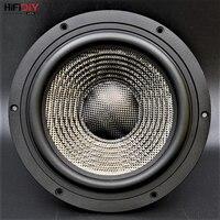 HIFIDIY LIVE HIFI 8 дюймов 8,8 мидбаса Динамик для автомобиля 8OHM 160 Вт литья Алюминиевая Рамка углеродного волокна громкоговоритель T8 225