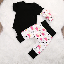 0-18M Newborn Baby Girls Princess Bodysuit 3Pcs