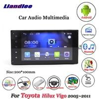 Liandlee Car Android System For Toyota Hilux Vigo 2005~2011 Radio Stereo Camera BT GPS Navi MAP Navigation HD Screen Multimedia