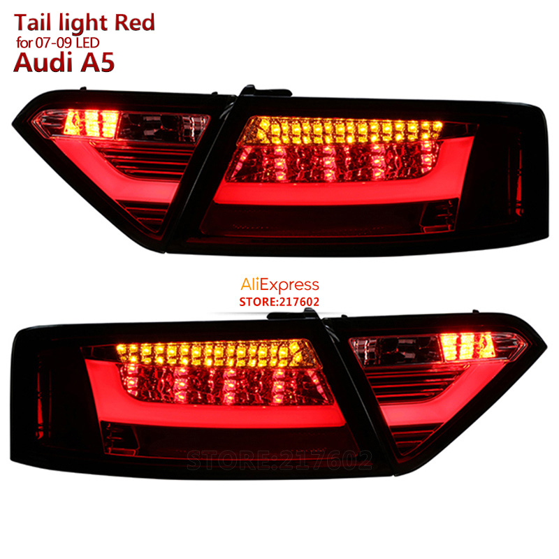 for Audi A5 LED Rear Lights 2008 to 2012 year Replacement for ogirinal car LED models Red Housing ensure fitment & durability