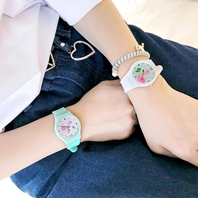 Relogio Feminino 2019 New Relojes Cartoon Children Watch Flamingo Watches Fashion Kids Cute Silicone Quartz Watch Girl