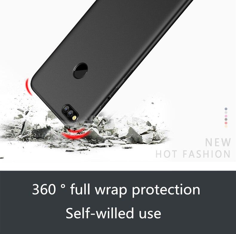 MPCQC Fashion Soft Matte Case For Huawei Honor 9 Lite V9 Play 8 Lite/8 9 V10 P8 Lite 2017 Case 360 Degree Cover Plastic Cases