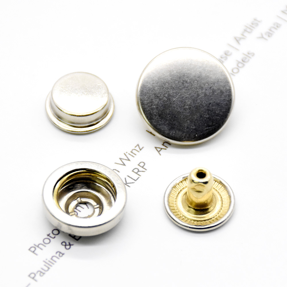 100set brass snap fasteners Clothing accessories Sewing snaps buckleEnvironmentally friendly high quality buttonsDown jacket in Buttons from Home Garden