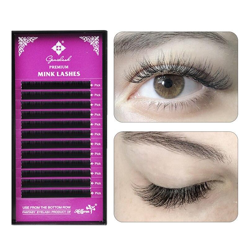209f5b679ec GENIELASH individual eyelash extension make up premium mega volume lash  extensions mink individual lashes hybridlashes