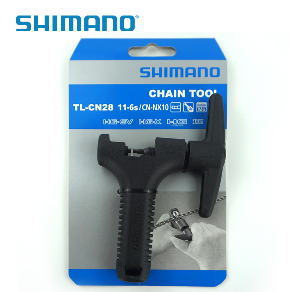 Shimano bicycle chain tool TL-CN28 11-6s cycling bike repair tools Chain Pin Splitter Device Chain Breaker Cutter Removal Tool stainless steel bicycle chain breaker repair tool red black