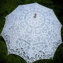 Винтажный кружевной зонтик ручной работы, солнечный зонтик, кружевной зонтик для фотосъемки, танцевальный Свадебный декор, зонт от солнца