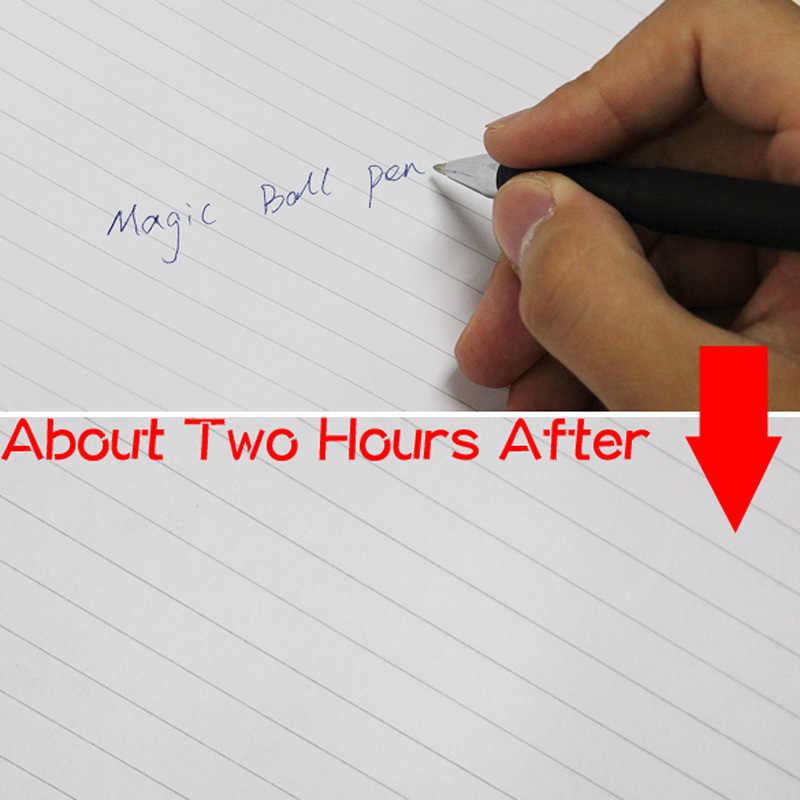 1 قطعة ماجيك نكتة الكرة القلم غير مرئية ببطء تختفي الحبر في غضون ساعة واحدة ، 1 قطعة هدية سحرية لصديق المفضلة مضحك بالي اللعب