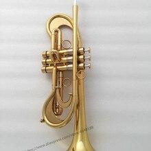 Профессиональные индивидуальные золотые трубы монельные клапаны рога с Чехол