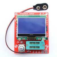 Diy 키트 디지털 콤보 구성 요소 m8 트랜지스터 테스터 커패시터 lcr 다이오드 커패시턴스 esr 미터 pwm 구형파 12864 lcd