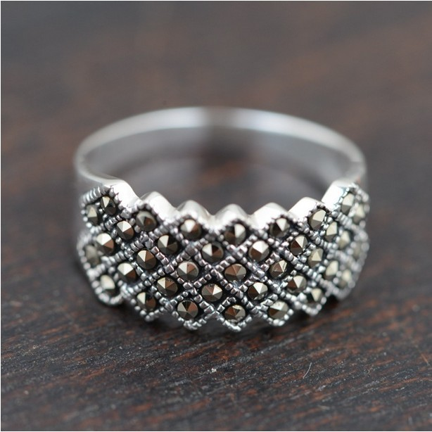 Yanaka Elite Silver Ring 925 Silver Marcasite jewelry Wholesale of ...