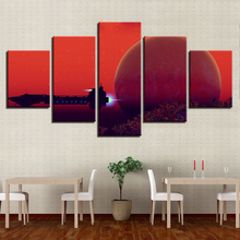 Wall Art Canvas Painting HD Prints Home Decor 5 Pieces Sunset Fishing Landscape Modular For Living Room Pictures Artwork Poster canvas home decor painting frame modular fishing rod pictures hd prints 5 pieces fishing fish poster living room wall art
