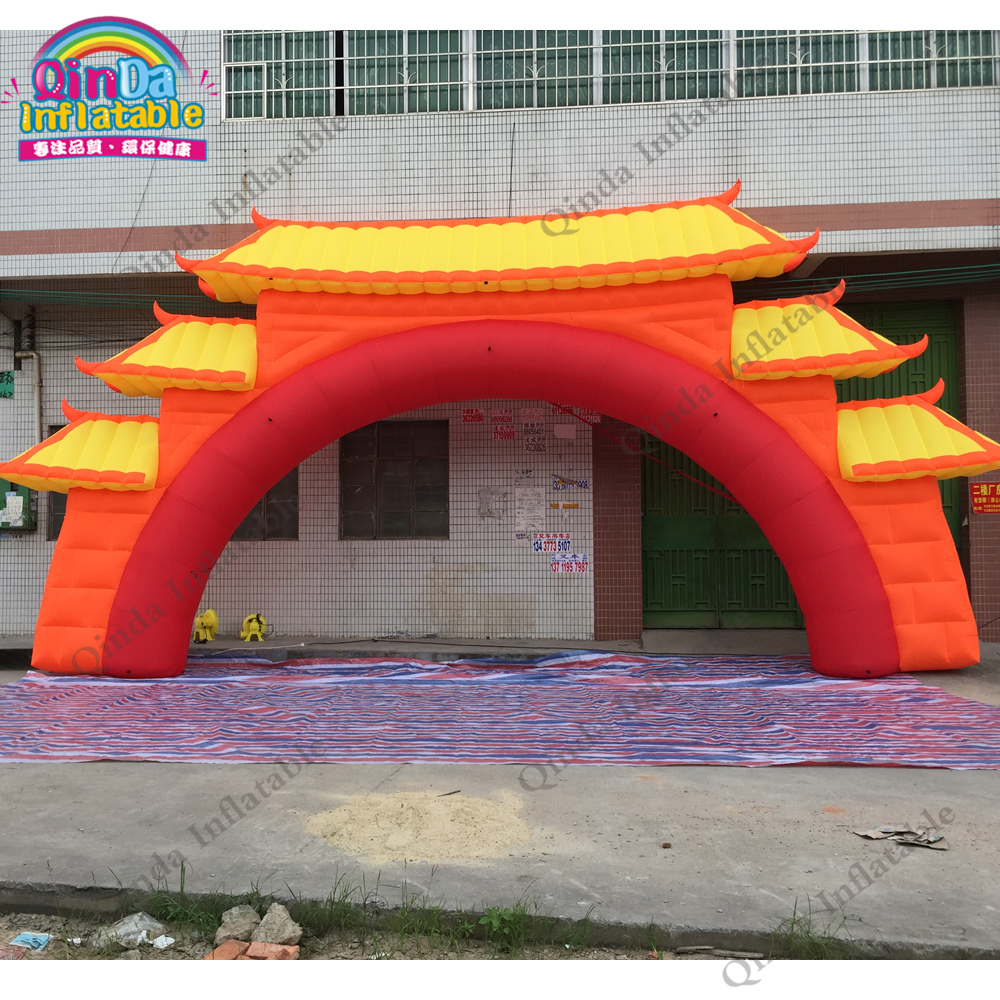 High quality promotion inflatable blow up arch gate 8m span inflatable arch door for advertisingHigh quality promotion inflatable blow up arch gate 8m span inflatable arch door for advertising