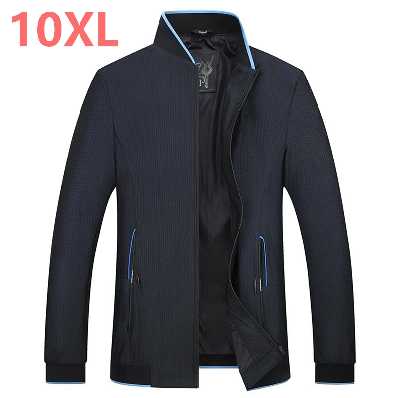 2018 new large size 10XL 8XL 7XL 6XL Spring Autumn Men Jackets Solid Fashion brand Coats Male Casual Slim Jacket Men Outerdoor