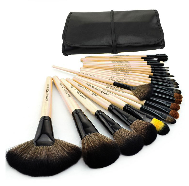 24pcs Makeup Brushes Set Professional Makeup Brushes & Tools Kit of cosmetic Wool Brand Make Up Set Brushes for face with bag 147 pcs portable professional watch repair tool kit set solid hammer spring bar remover watchmaker tools watch adjustment
