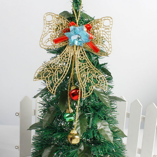 christmas bow christmas tree toppers guardian bow decorations kids new year gifts christmas tree outdoor christmas