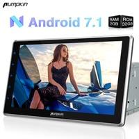 Calabaza 2 Din Android 7.1 Universal de Coches Reproductor de DVD de 10.1 Pulgadas No DVD Estéreo FM Mapas de Navegación GPS Wifi Radio Del Coche 3G Headunit