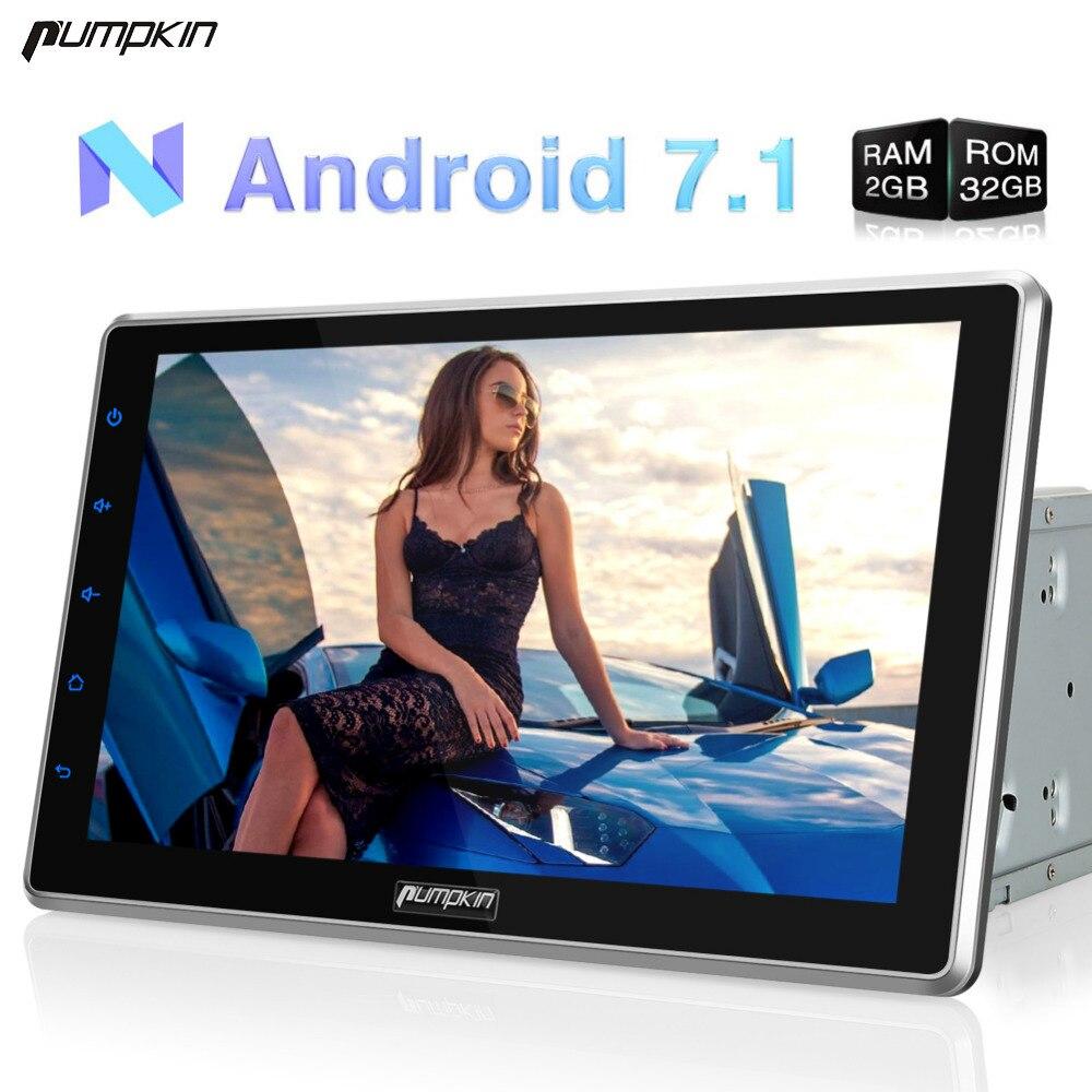pumpkin 2 din 10 1 39 39 android 7 1 universal car radio no. Black Bedroom Furniture Sets. Home Design Ideas